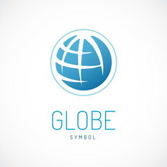 Earth  logo template. Globe sign.