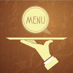 hand serving logo menu