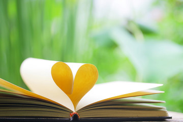 Book heart shaped
