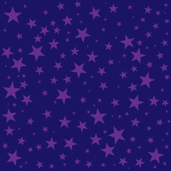 Night sky stars seamless background texture. Simple flat concept