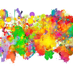 Abstract color splash and watercolor background