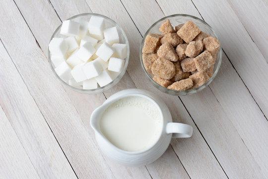 Bowls of Sugar and Cream