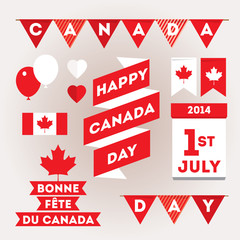 Set design elements for Canada Day first of July