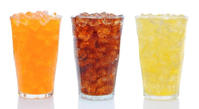 Three Glasses of Soda