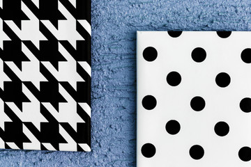 Black and White Geometric Canvases