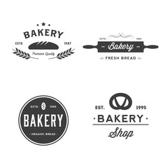 Set of bakery and bread shop logos