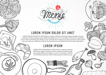 vector food design template. menu restaurant brochure.