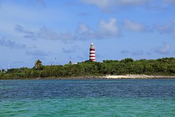 Hope Town Lighthouse on Great Abaco Island, Bahamas