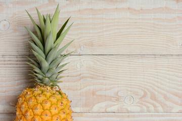 Pineapple Closeup on Wood