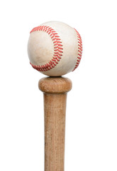 Baseball on Knob of Bat