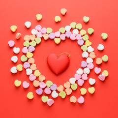 Scattered Valentines Hearts