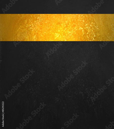 Black Background Luxury Shiny Gold Ribbon Website Template Design
