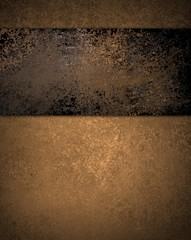 brown background with black grunge stripe on top border and vintage texture