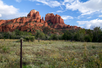 Cathedral Rock from an unusual vantage point in Sedona, Arizona