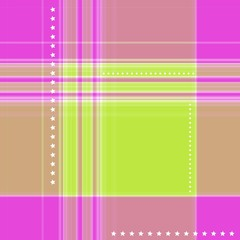 Ornate gingham pattern in pink and green