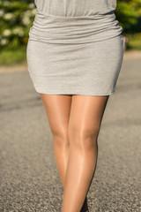 long legs posing outdoor