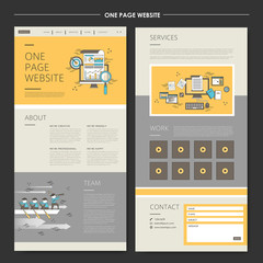 business concept one page website design template