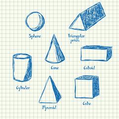 Math shapes doodle