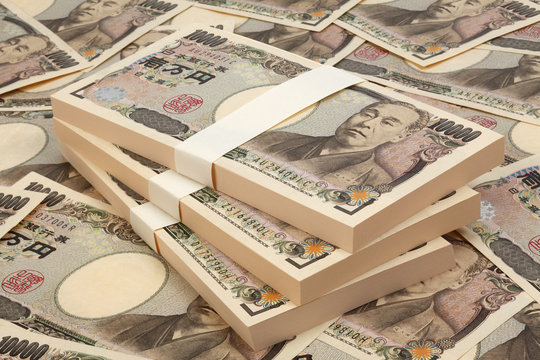日本紙幣/一万円の札束