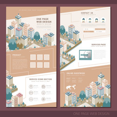 city concept one page website design template