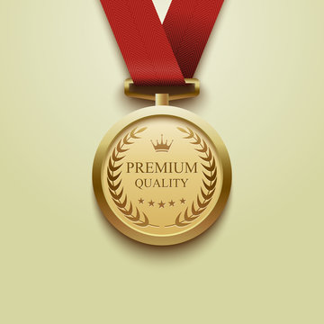 Gold medal Premium quality.vector