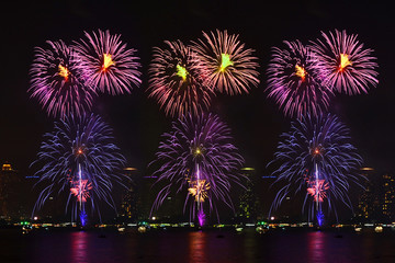 Beautiful firework display for celebration