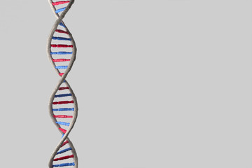 Model of DNA structure. 3d render image.