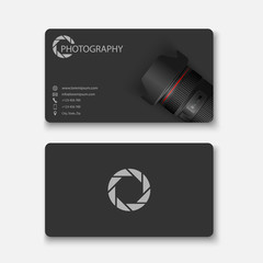 Business card template,photograph y,vector