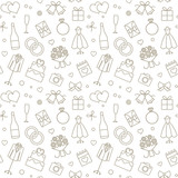 Wedding Related Vector Seamless Pattern Background 1