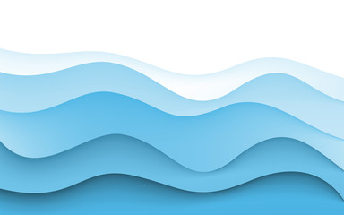Abstract Design Creativity Background of Blue Waves. Vector