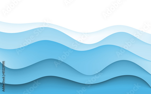 Abstract Design Creativity Background Of Blue Waves Vector