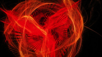 Abstract background with red glowing fenix