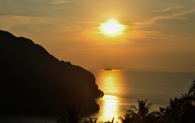 Thailand, Phi Phi, march 2013, Sunset on island Phi Phi 29th of March
