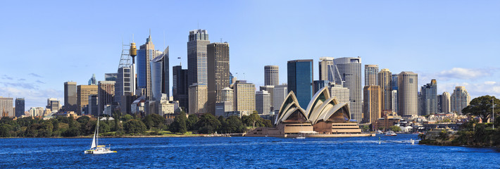 Sydney CBD Day From Boat panorama