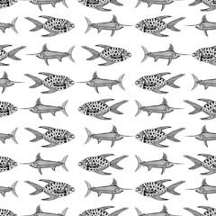 Fish seamless background