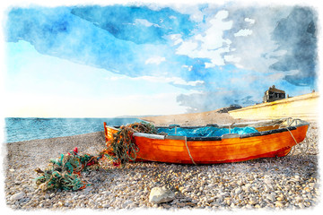 Fisning Boat on Chesil Beach