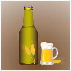 bottle of beer vector design
