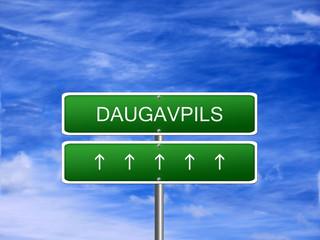 Daugavpils City Latvia Sign