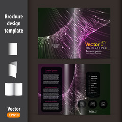 Vector brochure template design.