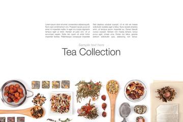 tea on white background