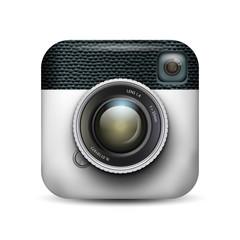 old camera icon app vector