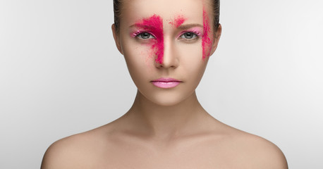 Pink Makeup Beauty Girl