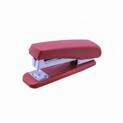 pink stapler isolated,with a clipping path