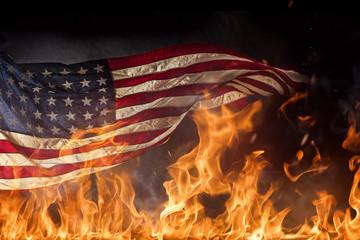 Grunge American flag, war concept