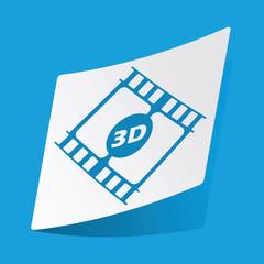 3D movie sticker