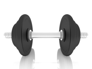 dumbbells over white background ,3d
