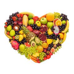 Door stickers Fruits Healthy fruity heart.