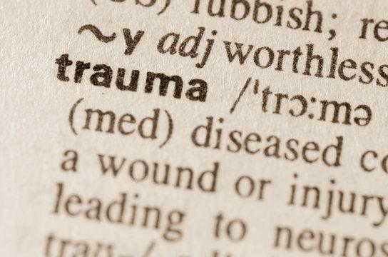 Dictionary definition of word trauma
