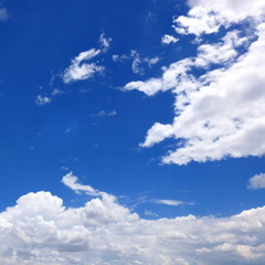 Clouds and blue sky with square frame