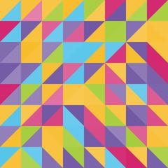 Geometric triangles background. Mosaic.